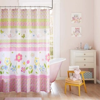Mi Zone Kids Flower Power Multi Printed Shower Curtain