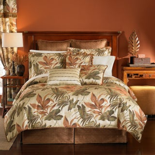 Croscill Bali Tropical Jacquard Woven 4 Piece Comforter Set (3 options available)