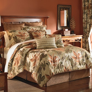 Croscill Bali Tropical Jacquard Woven 4 Piece Comforter Set