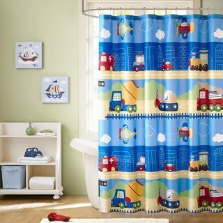 Mi Zone Kids Truck Zone Multi Printed Shower Curtain