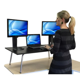 Mega Stand Steady Black Standing Desk