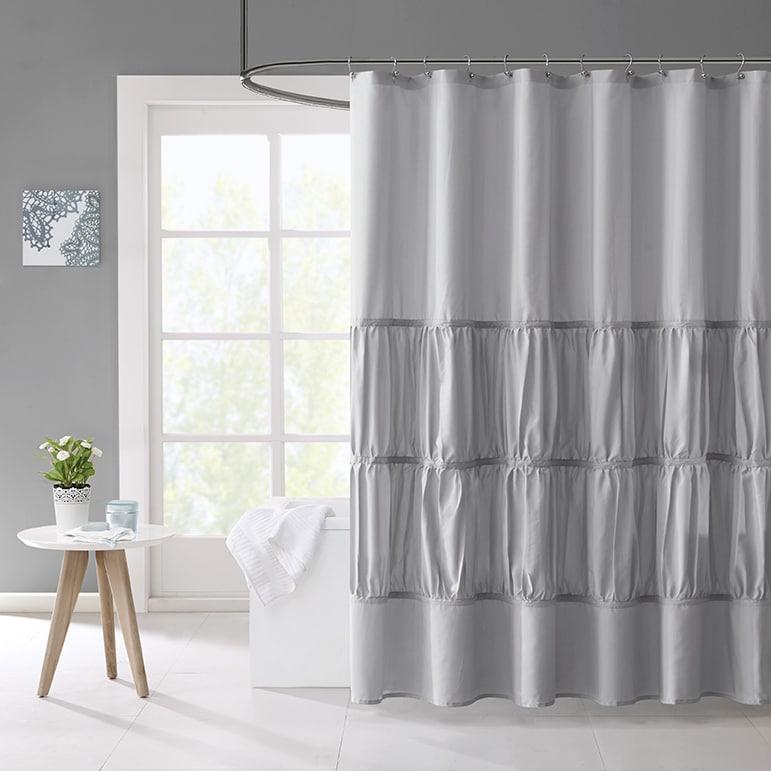 Mi Zone Delia Microfiber Shower Curtain 3-Color Option