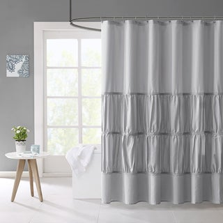Mi Zone Delia Microfiber Shower Curtain 3-Color Option
