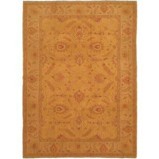 eCarpetGallery Handmade Shiravan Brown/Yellow Wool Sumak (9'0 x 12'5)