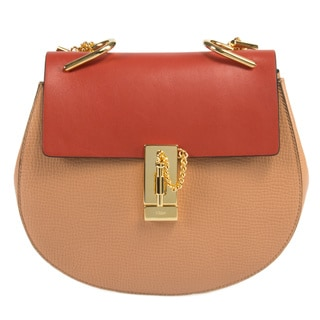 Chloe Drew Medium Coral Pop w/Gold Hardware Chain Shoulder Handbag