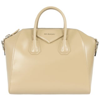 Givenchy Antigona Calfskin Leather Satchel Bag Silver Hardware with Shoulder Strap