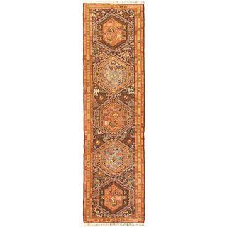 eCarpetGallery Azari Hand-knotted Blue/Red Wool Silk Sumak (2'6 x 9'3)