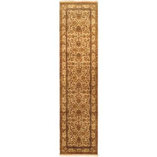 eCarpetGallery Mirzapur Beige Wool and Cotton Hand-knotted Rug (2'7 x 10'4)