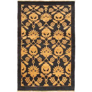 eCarpetGallery Chobi Finest Blue Hand-knotted Wool Rug (4'0 x 6'2)