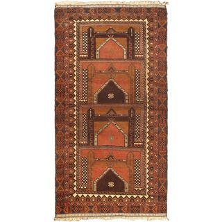 eCarpetGallery Royal Balouch Brown Hand-knotted Wool Rug (3'5 x 6'9)