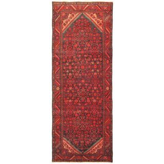 eCarpetGallery Persian Vogue Hand-knotted Red Wool Rug (3'8 x 9'11)