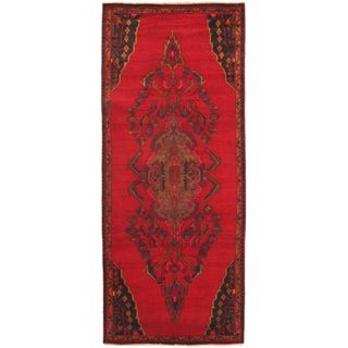 eCarpetGallery Persian Vogue Brown/Red Wool Hand-knotted Rug (3'9 x 9'3)