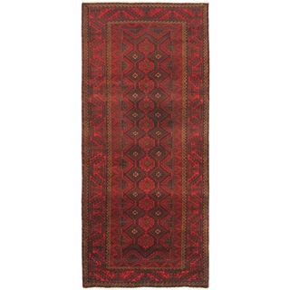 eCarpetGallery Persian Vogue Hand-knotted Red Wool Rug (4'3 x 10'2)