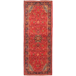eCarpetGallery Persian Vogue Purple/Red Hand-knotted Wool Rug (3'10 x 10'1)