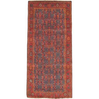 eCarpetGallery Persian Vogue Navy/Red/Brown/Blue Wool and Cotton Hand-knotted Rug (4'6 x 10')