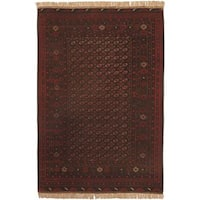 eCarpetGallery Khal Mohammad Hand-knotted 6'5 x 9'5cBrown Wool Rug