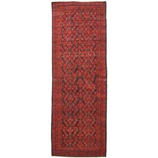 eCarpetGallery Persian Vogue Blue/Red Wool Hand-knotted Rug (3'9 x 10'10)