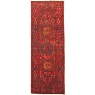 eCarpetGallery Hand-knotted Persian Vogue Red Wool Rug (3'6 x 9'11)