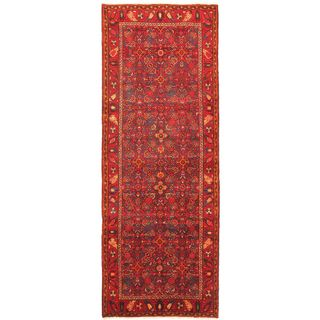 eCarpetGallery Persian Vogue Hand-knotted Purple/Red Wool Rug (3'9 x 10'3)