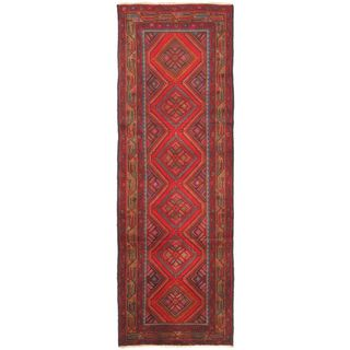 eCarpetGallery Persian Hand-knotted Brown/Red Wool Rug (3'3 x 9'10)