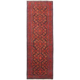 eCarpetGallery Hand-knotted Persian Vogue Blue/Red Wool Rug (3'5 x 10'1)