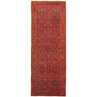 eCarpetGallery Hand-knotted Persian Vogue Blue/Red Wool Rug (3'8 x 10'0)