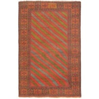 eCarpetGallery Persian Vogue Hand-knotted Brown/Green Wool Rug (3'6 x 5'4)