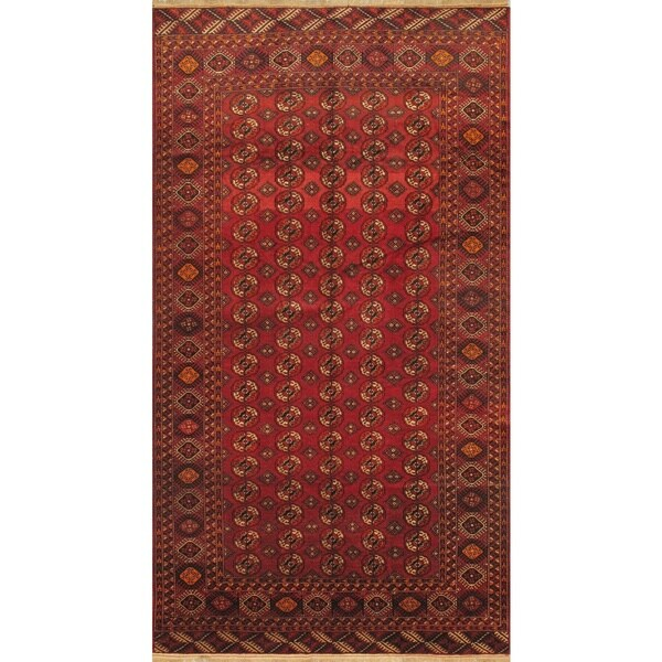 eCarpetGallery Shiravan Bokhara Hand-knotted Red Wool Rug (7'5 x 13'8)