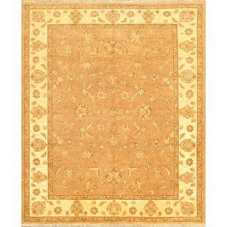 eCarpetGallery Chobi Finest Hand-knotted Beige Wool Rug (6'5 x 7'9)