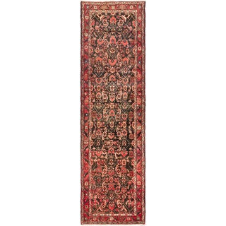 eCarpetGallery Borchelu Hand-knotted Black/Red Wool Rug (3'3 x 11'9)