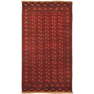 eCarpetGallery Shiravan Bokhara Hand-knotted Red Wool Rug (7'2 x 13'3)