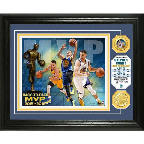 """Stephen Curry """"Back to Back MVP"""" Bronze Coin Photo Mint"""