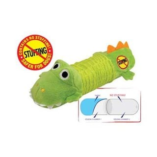 Petstages Stuffing Free Big Squeak Gator Dog Toy