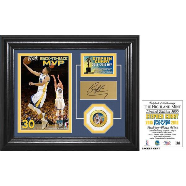 Stephen Curry Back to Back MVP Bronze Coin Desktop Photo Mint