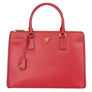 Prada Galleria Large Red Saffiano Leather Tote Bag