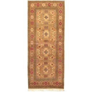 eCarpetGallery Beige/Orange Wool Antique Anatolian Hand-knotted Rug (2'7 x 6'6)