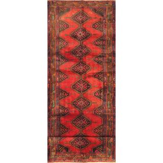 eCarpetGallery Darjazin Hand-knotted Brown/Red Wool Rug (3'11 x 12'11)