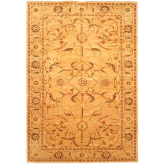 eCarpetGallery Chobi Finest Beige Hand-knotted Wool Rug (12'2 x 17'6)