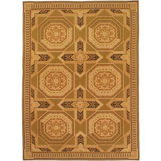 eCarpetGallery Suzani Handmade Beige Wool Kilim (8'11 x 12'2)