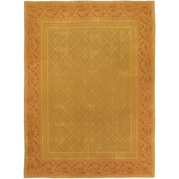 eCarpetGallery Beige/Orange Wool Handmade Suzani Sumak (8'4 x 11'7)