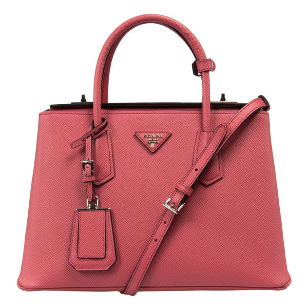 5b4d3a7d48ed ... coupon code for prada bn2823 2a4a f060m saffiano cuir leather tamaris  pink tote bag 4c58e c00f3