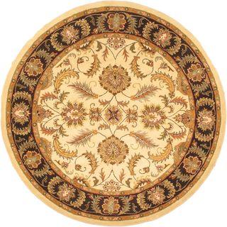 eCarpetGallery Manchester Handmade Beige/Black Wool Rug (8'0 x 8'0)