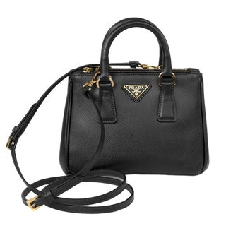 Prada Galleria Black Mini Saffiano Leather Crossbody Handbag