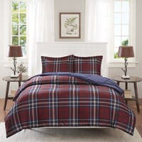 Madison Park Essentials Bengston Red 3M Scotchgard Down Alternative Comforter Mini Set