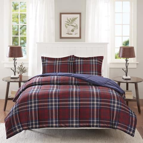 Carbon Loft Sterling Plaid Down Alterntative Comforter Mini Set