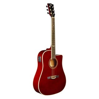 Eko Guitars 06217122 NXT Series Dreadnought Wine Red Finish Cutaway Acoustic-electric Guitar