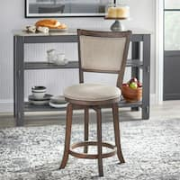Simple Living French Country Grey 22-inch Swivel Stool