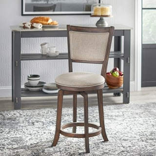 Simple Living French Country 22-inch Counter Height Swivel Bar Stool
