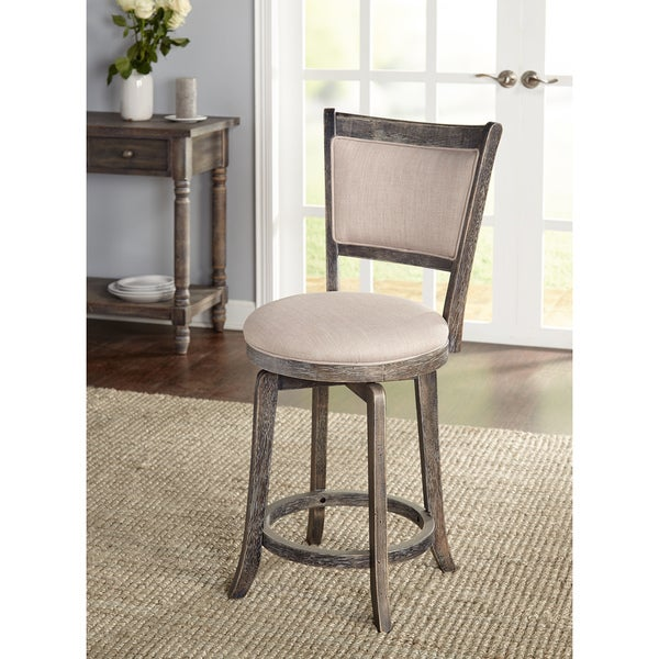 simple living furniture. simple living french country grey 22inch swivel stool furniture