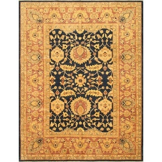 eCarpetGallery Chobi Finest Blue/Brown/Pink Hand-knotted Wool Rug (9'1 x 11'9)